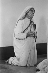 Mother Teresa Kneeling in Prayer